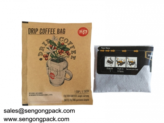 Ireland Drip Coffee Bag Packing Machine with Outer Envelope